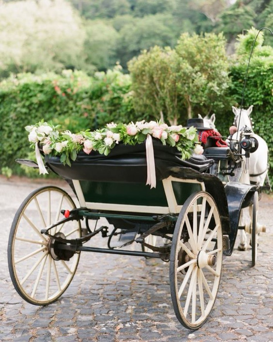 Horse and Carriage Wedding Trend