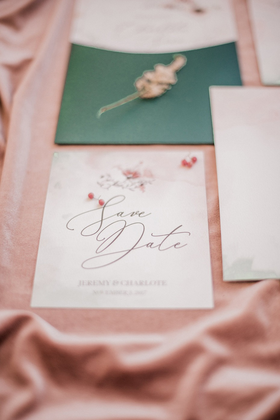 soft and romantic save the date