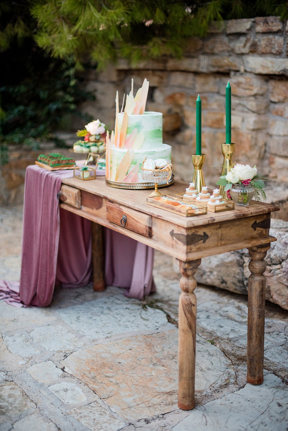 unique wedding dessert table