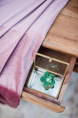 Soft Pink And Emerald Green Winter Wedding Ideas in Greece