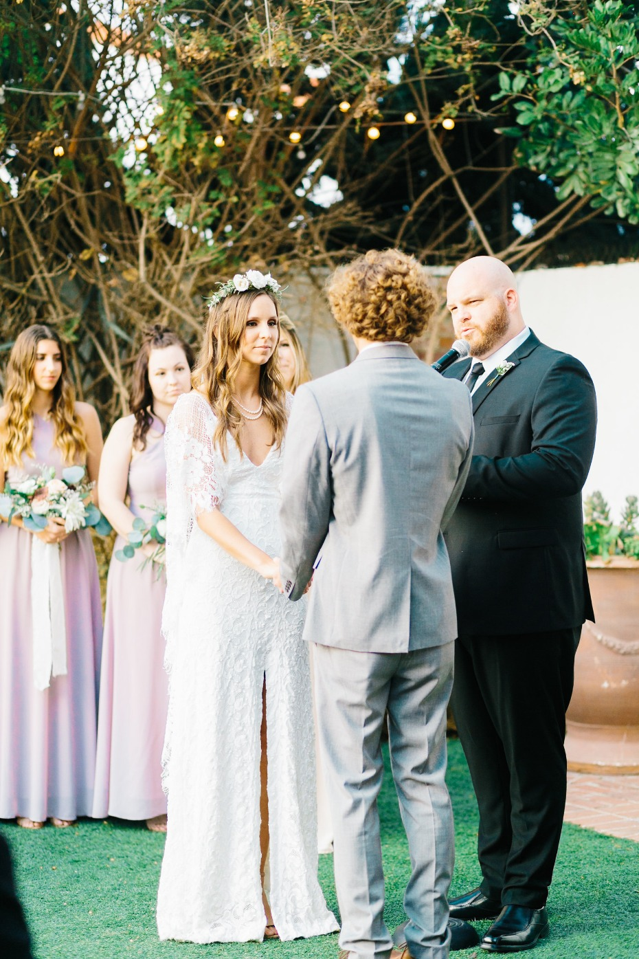 Outdoor ceremony in San Clemente