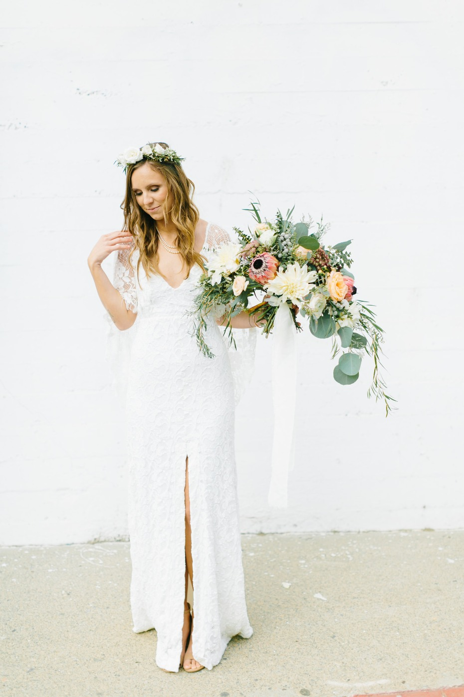 California bride in Grace Loves Lace