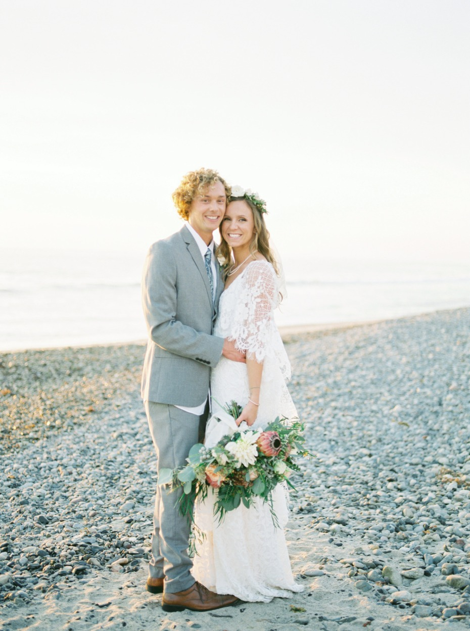 Beautiful beach wedding in San Clemente
