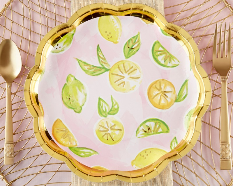 Our Cheery and Chic Citrus Paper Plates help you share cheer and joy with guests at your wedding or bridal shower. Perfect for any