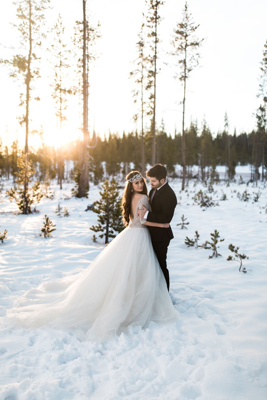 Glamorous winter wedding ideas