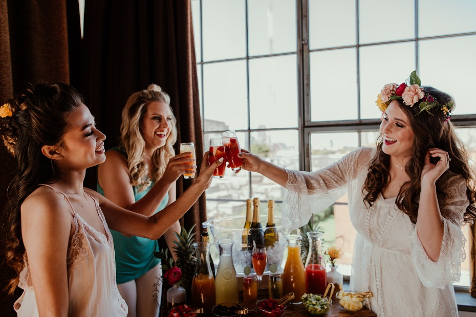Cheers to this mimosa bar