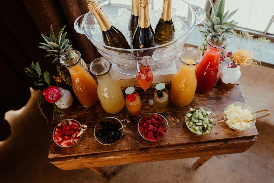 Tropical mimosa bar
