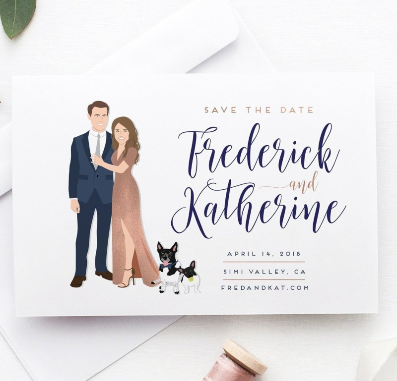 This classy save the dates are just the right mix of modern and fun. Let your guests know to save your date with STYLE.