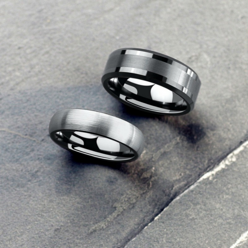 Mens urban wedding rings! Durable and designed with comfort fit.