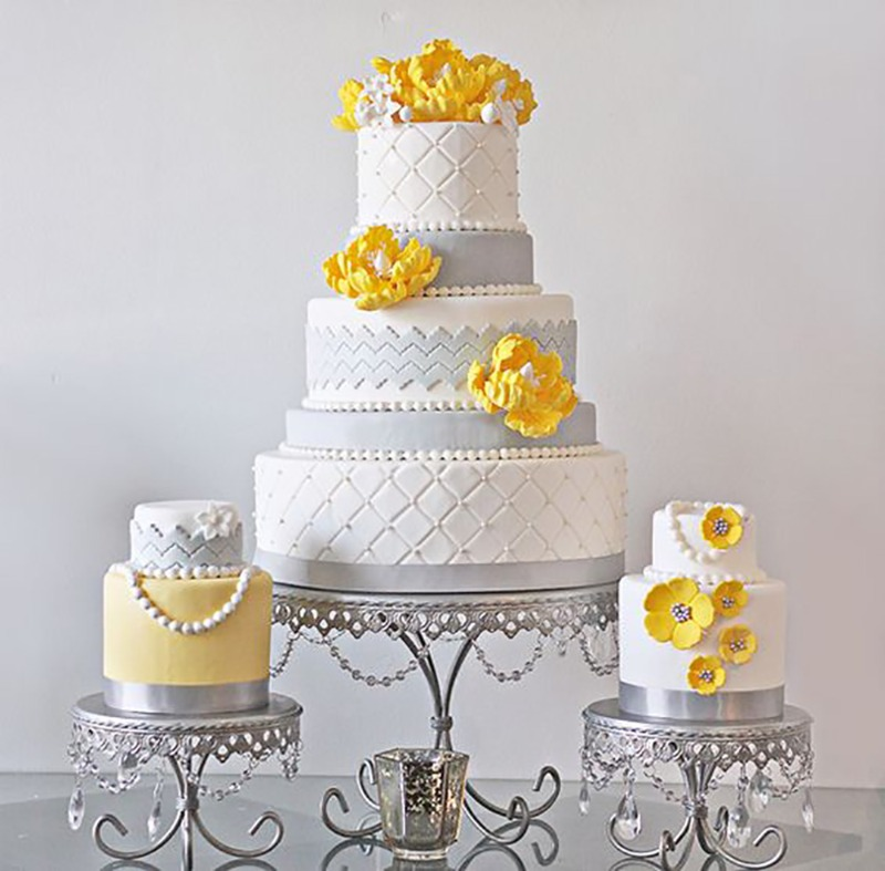Wedding Cake Table Inspiration ~ Create a set! Opulent Treasures collection of cake stands will help you create the look!