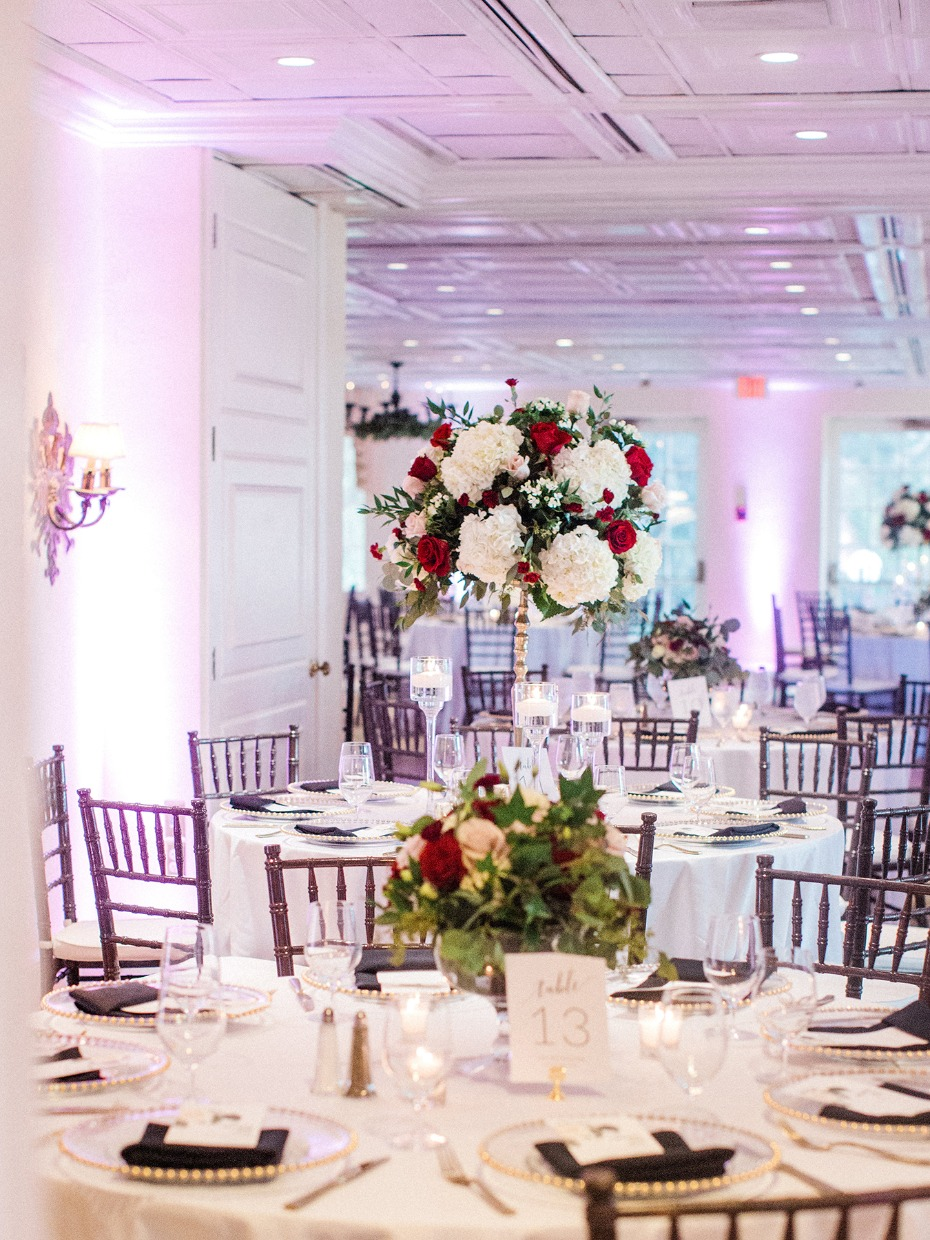 Mix and match the height of your centerpieces