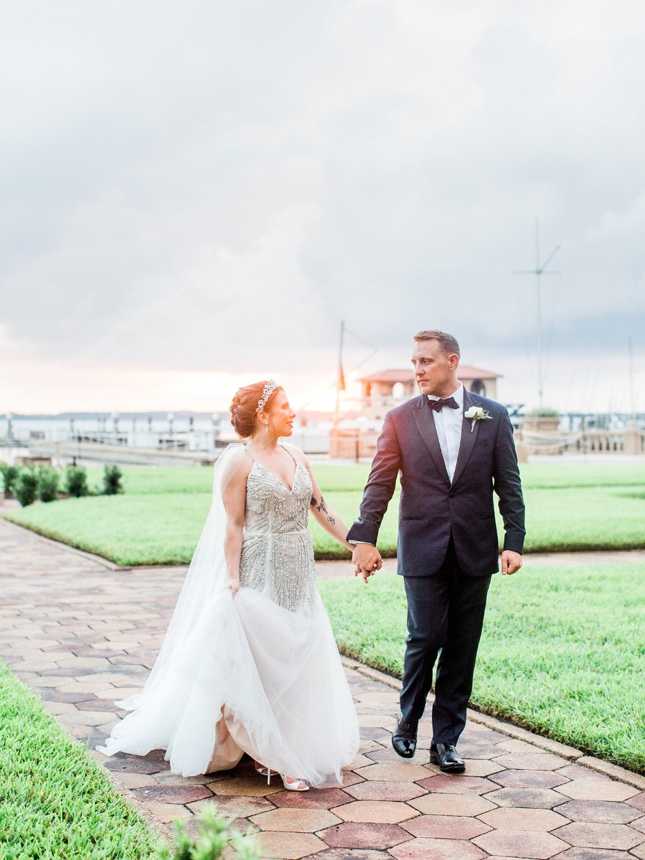 Sunset wedding portrait in Jacksonville, FL