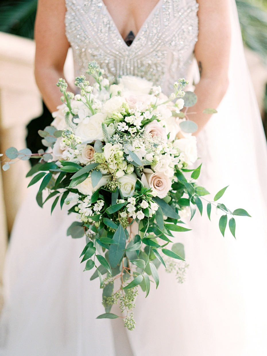 Dreamy cascading bouquet