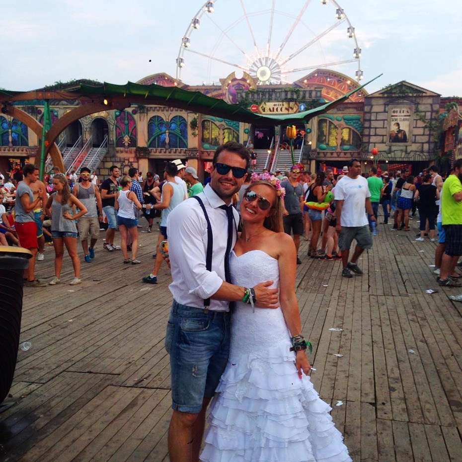 Couple Travels the World with Wedding Dress After Wedding Photos Are Ruined