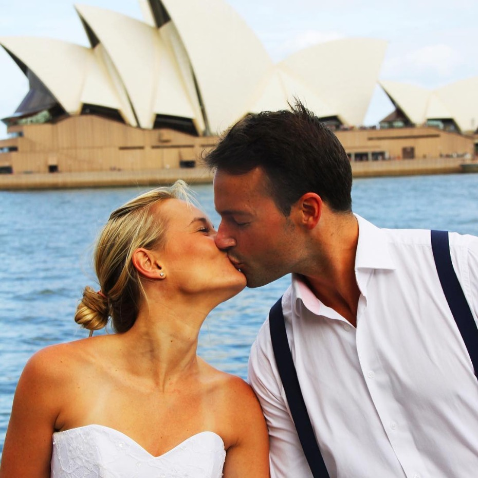 Couple Travels the World with Wedding Dress After Wedding Photos Ruined