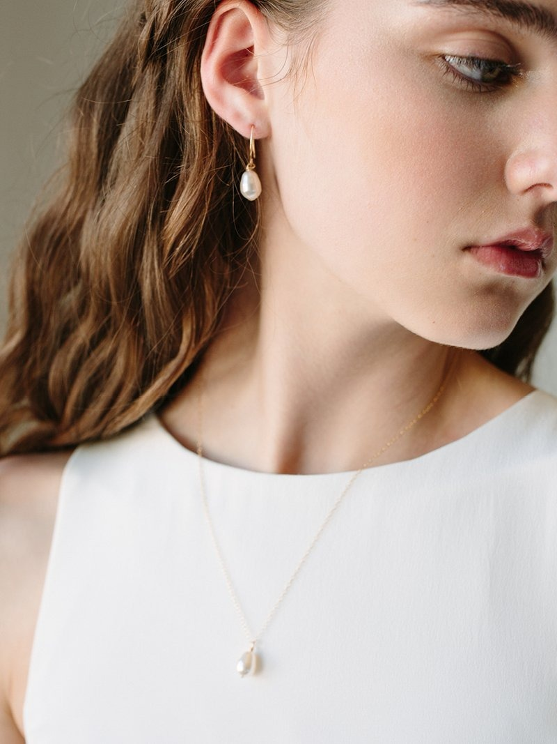 Celebrating the lunar new year with our moondrop earrings + necklace.