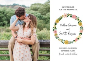 Romantic Botanical Free Printable Wedding Invitation Suite