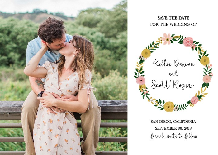 Print: Free Printable Photo Save The Date Card