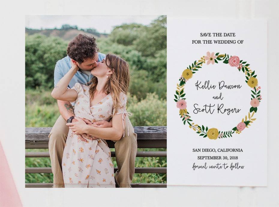 Free Photo Printable Save The Date CArd