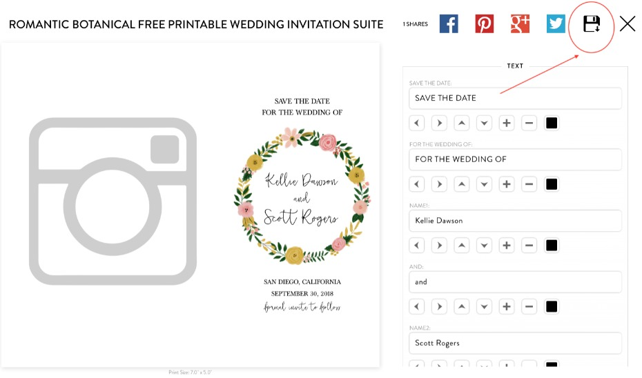 how to use Wedding Chicks Free Printable Save The Date