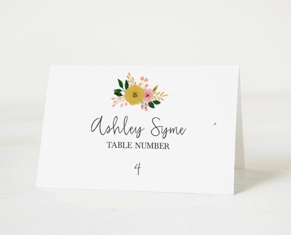 free printable escort cards