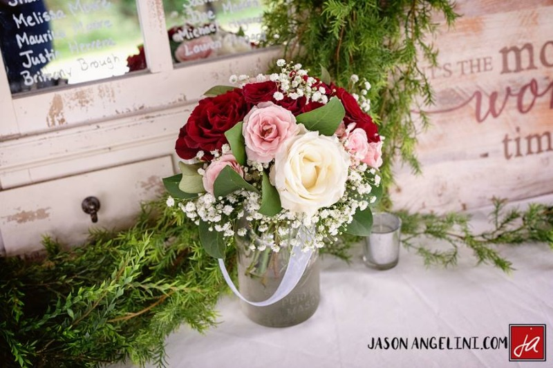 A beautiful Burgundy and Green Christmas wedding at Bakers Ranch !