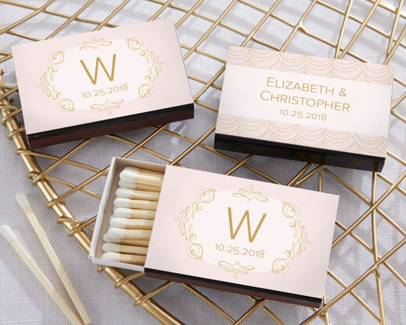 These Personalized Matchboxes use Modern Romance sticker designs to turn ordinary matchboxes into personalized wedding favors! Each