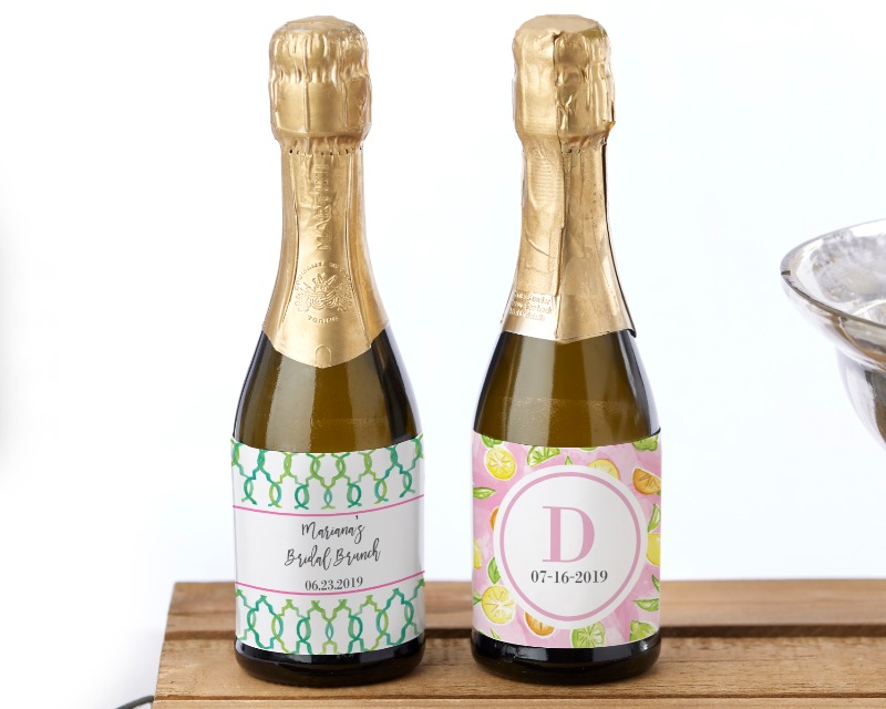 Add even more cheer to your bridal shower or wedding by sending guests home with mini wine bottle favors—personalized with Kate Aspen