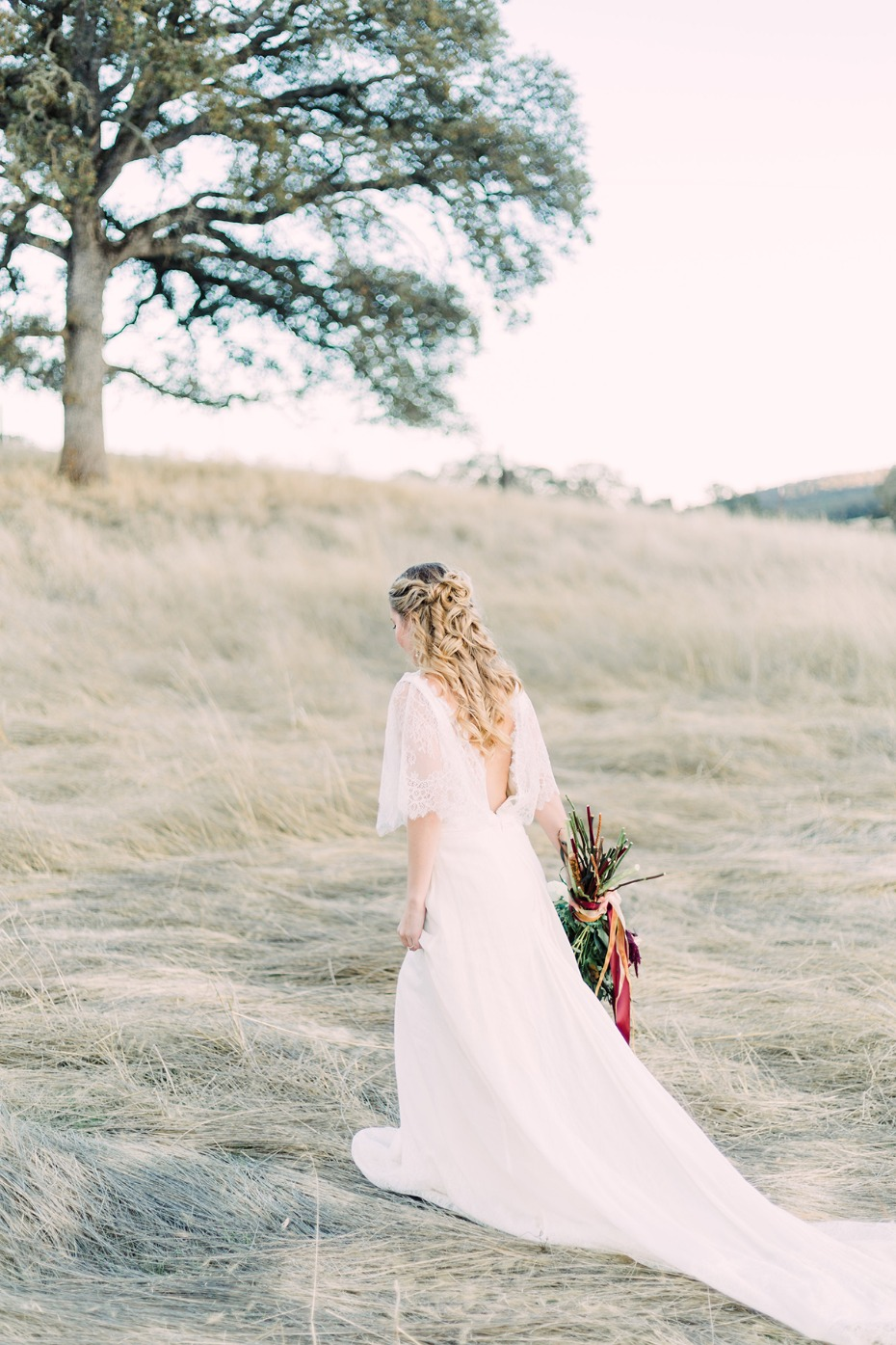 Low back wedding dress from High Vibe Brides