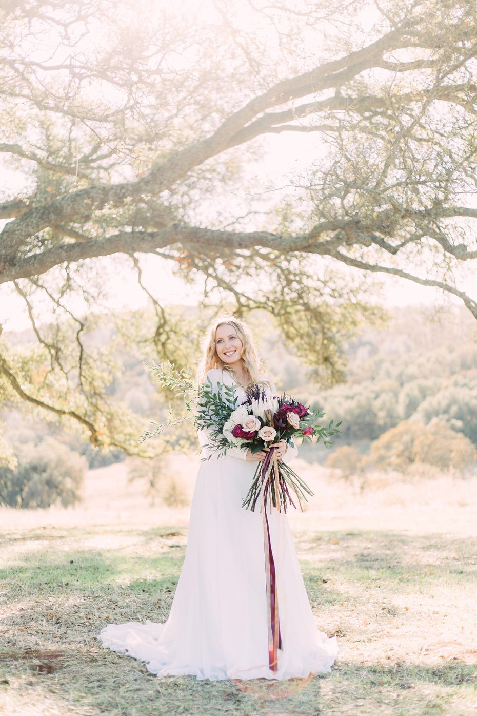 Sun drenched boho bridal look