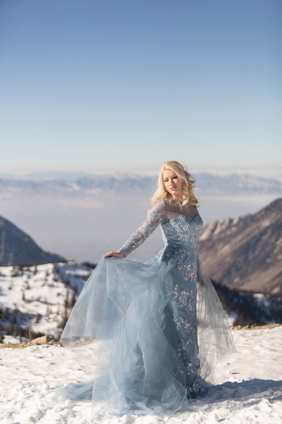 fantasy inspired wedding dress in blue