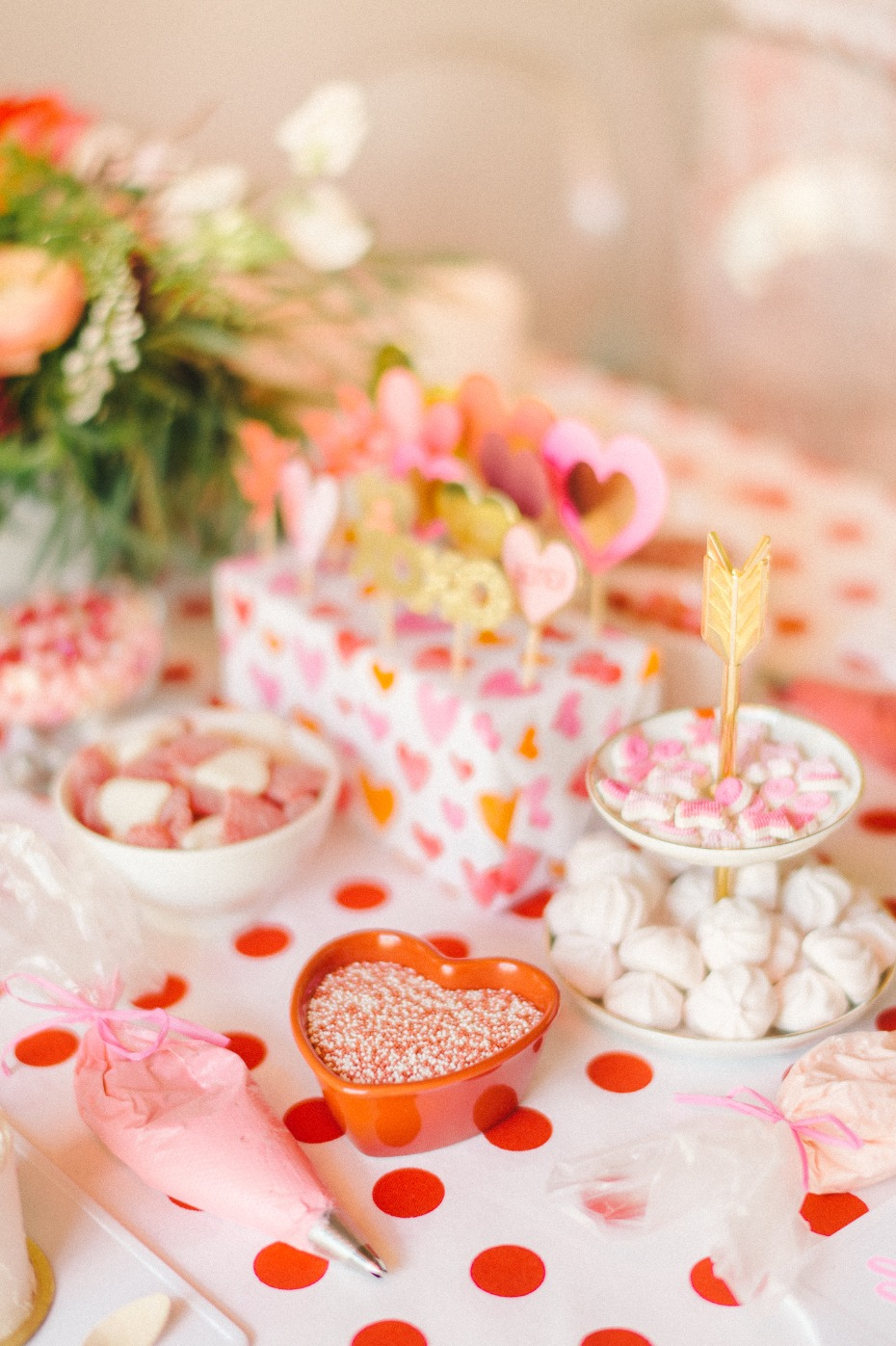candy and sweets cake decoration table