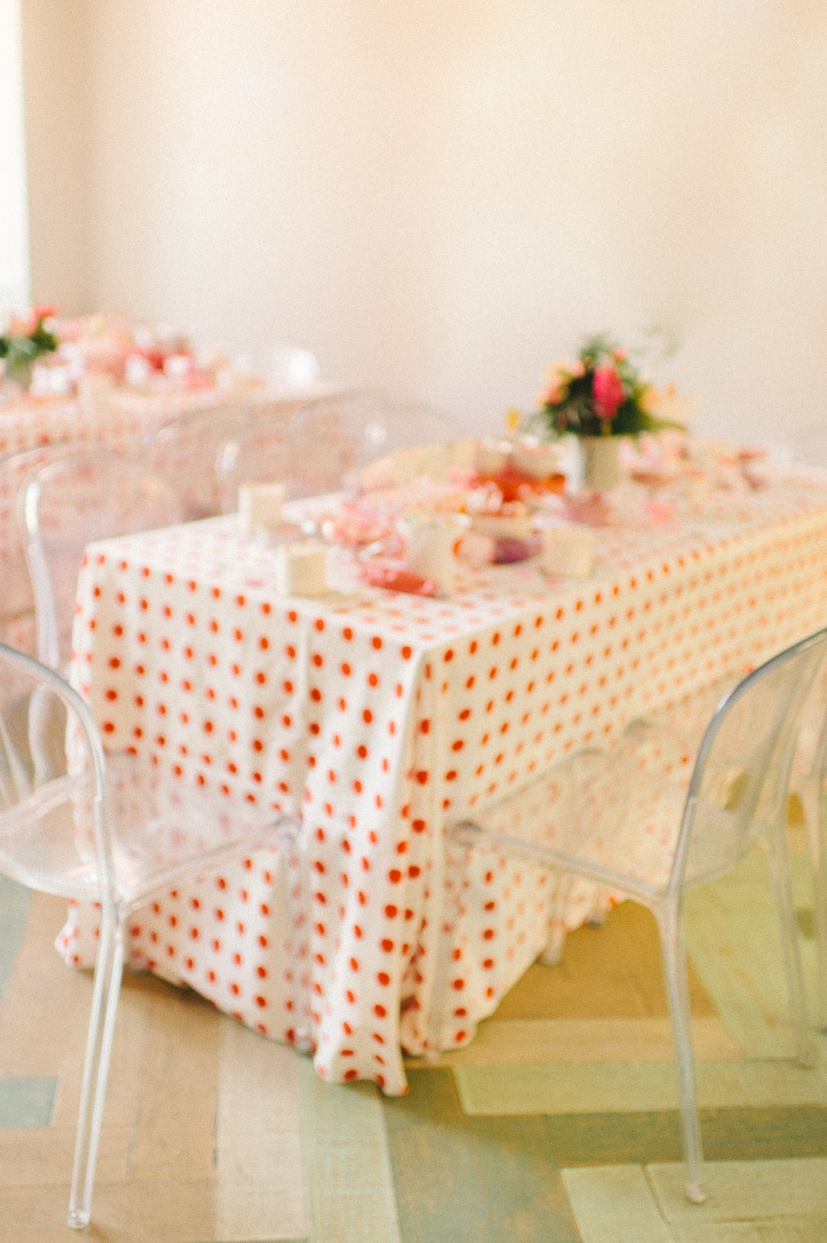 sweet polka dot bridal shower decor