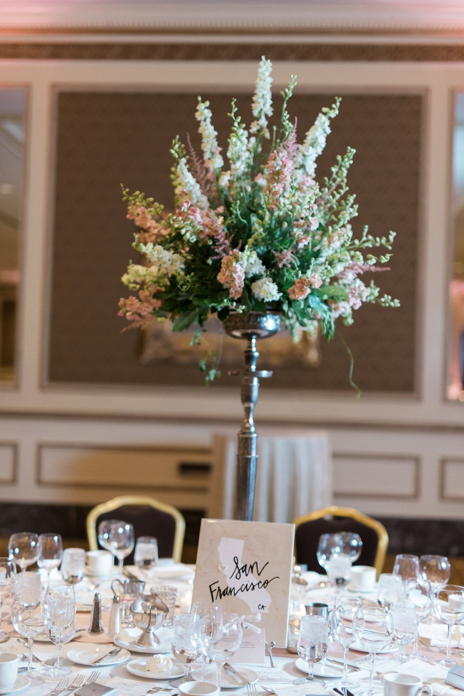 Elegant tall centerpiece