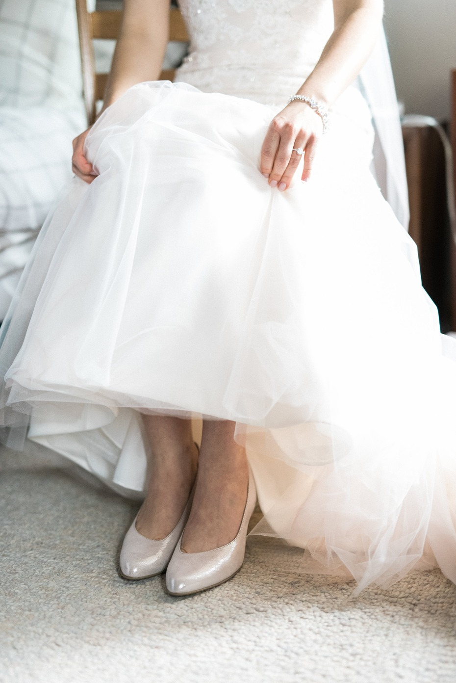 Simple wedding heels