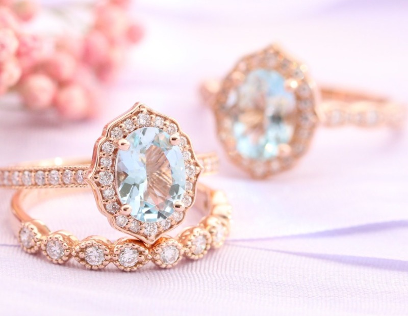 Our most popular collection is our vintage floral engagement rings, made in either a scalloped band or milgrain straight band. Visit