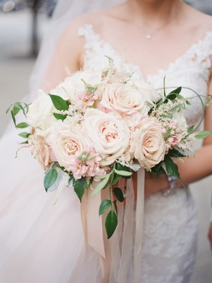 A Classic Black Tie Wedding with Touches of Blush and Ivory