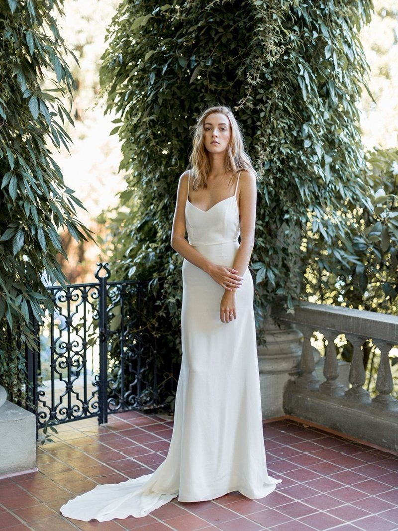 Farrah is a sleek, sexy summer number for your dream wedding.