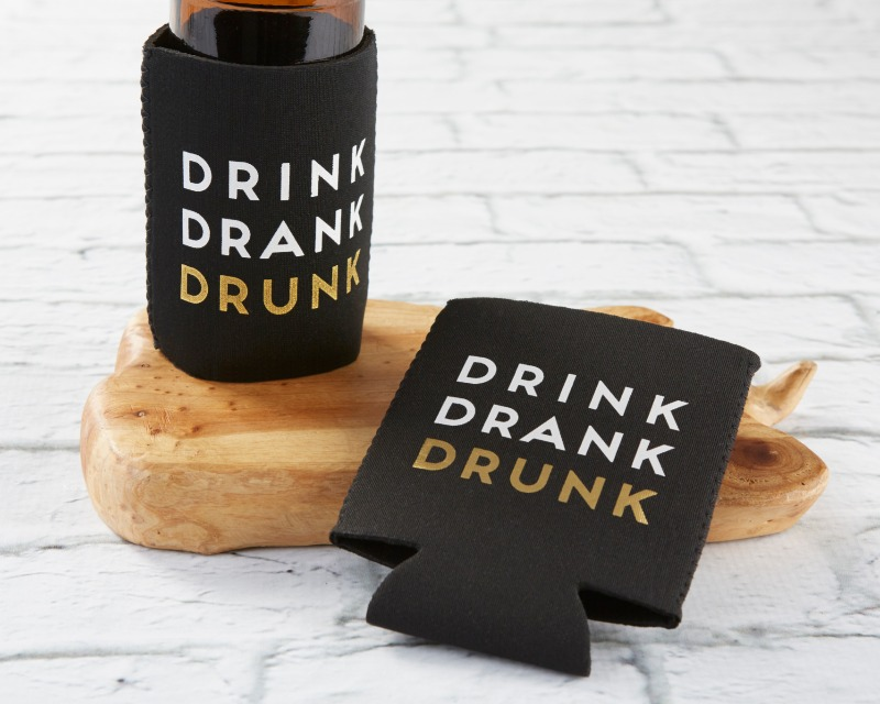There's nothing like a reusable drink sleeve, especially when it's printed with a fun saying like Drink Drank Drunk ! This fun Insulated
