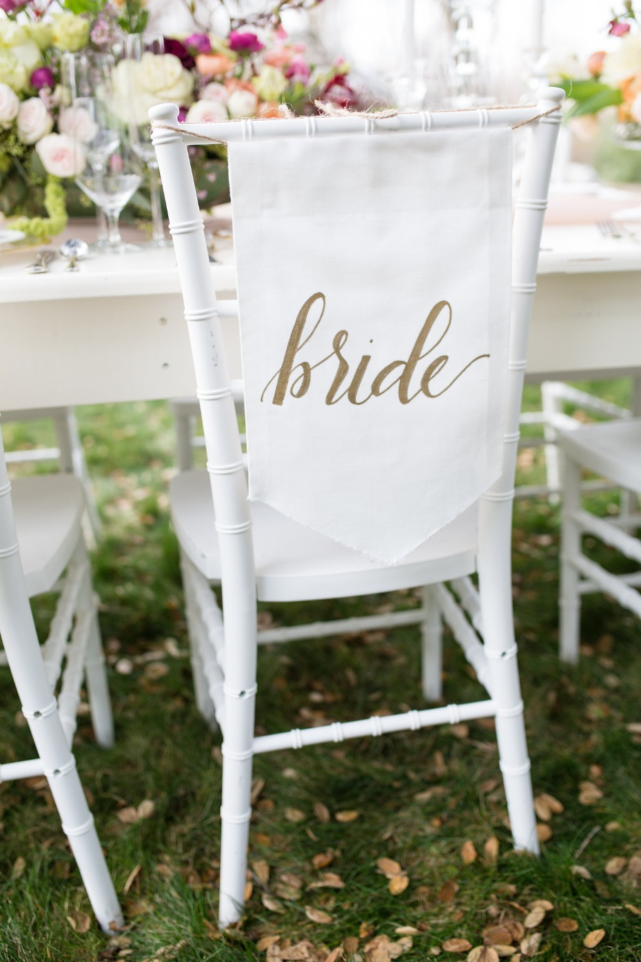 Bride chair banner