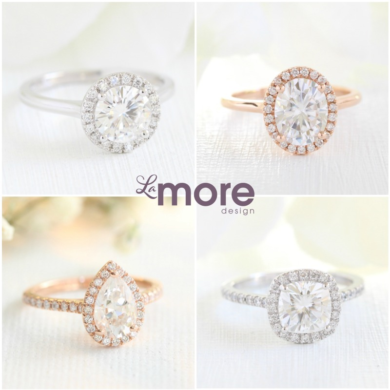We have a variety of center stone shapes, band styles, metal options, and more to fit every woman's ring dreams! Which stone shape