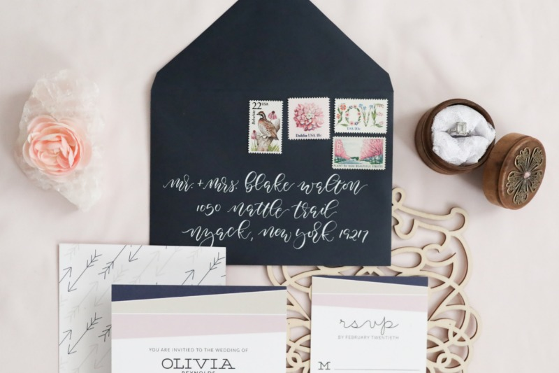 Wow your guests with beautiful hand-calligraphed envelopes.