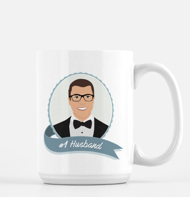 Fun gifts for the perfect guy in your life, like this MAN SIZED 15oz mug that features his mug! Any custom text you want can be combined