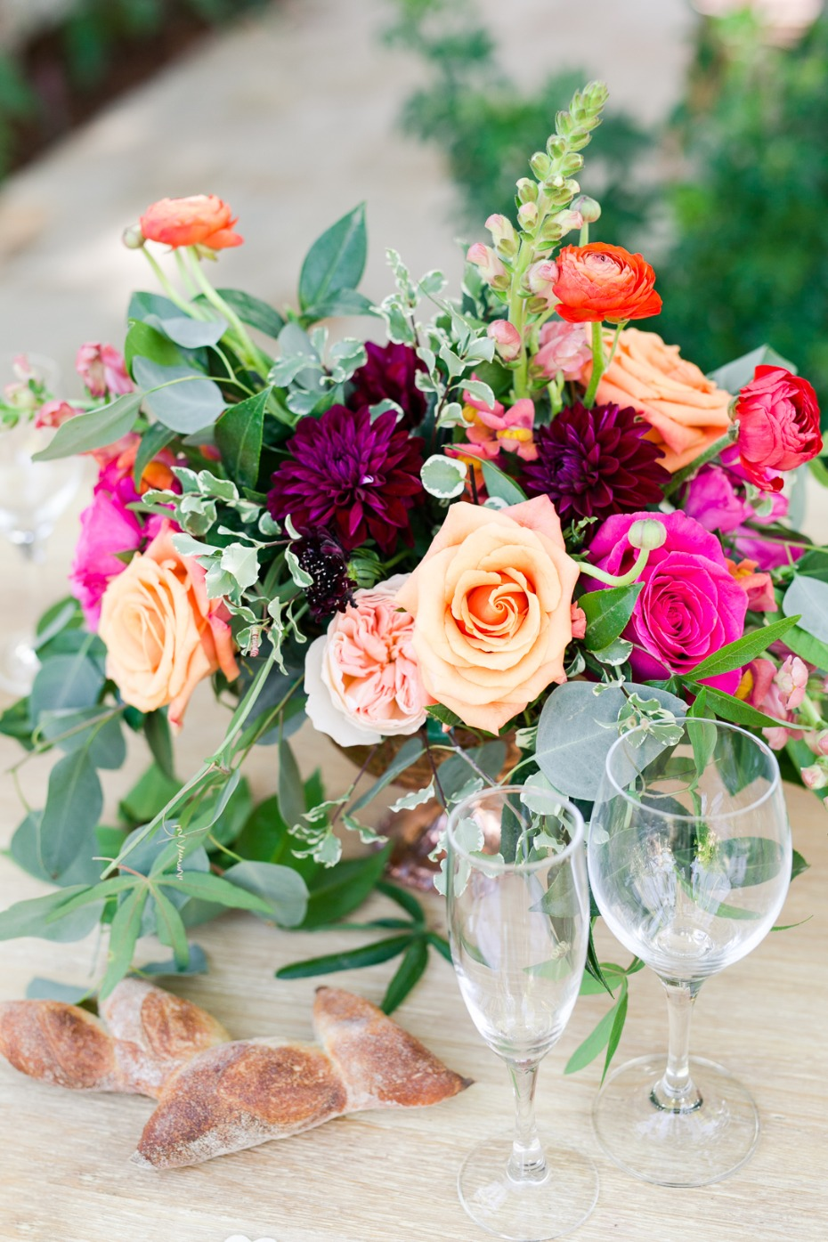 spring time wedding floral centerpieces