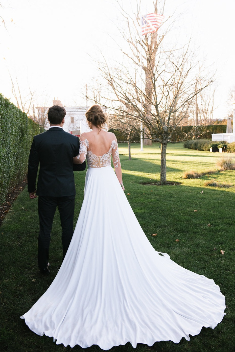 elegant wedding train gown from Rebecca Schoneveld Bridal