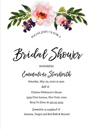 etsy watercolor print templates printable diy boho weddingtemplates deal bridal invitation shower you shop alert floral template