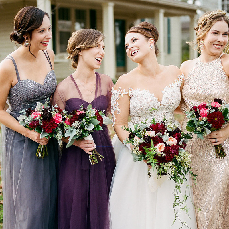 Danielle and her bridesmaids are such a sight for sore eyes! Love the friendship between these beauties. Photo by