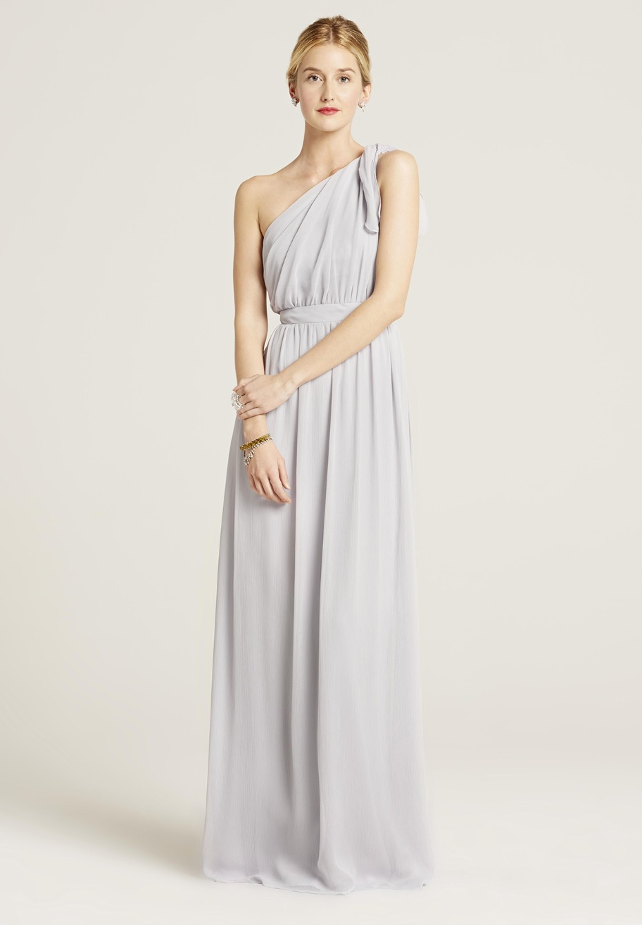 steel grey bridesmaid dress from Union Station