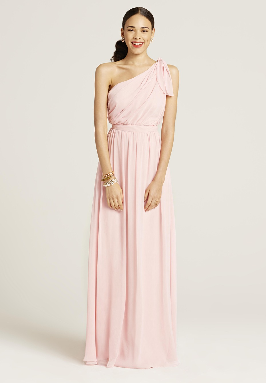 Blush bridesmaid dress from Union Station
