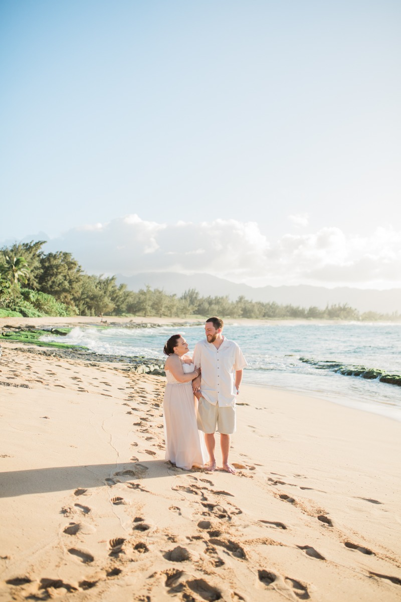 Stunning vow renewal on the North Shore of Hawaii